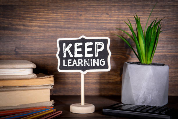 Keep Learning. Education, Courses, Online Training and Languages Concept stock photo