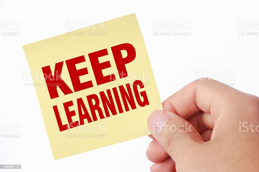Keep learning royalty-free stock photo