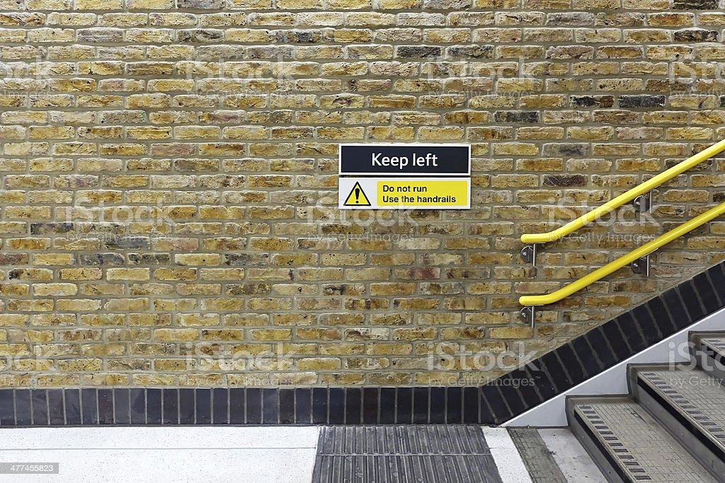 Keep left royalty-free stock photo