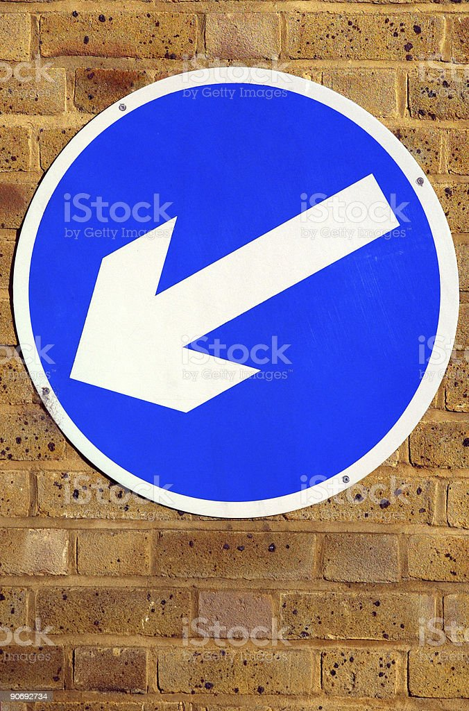 Keep Left Sign royalty-free stock photo