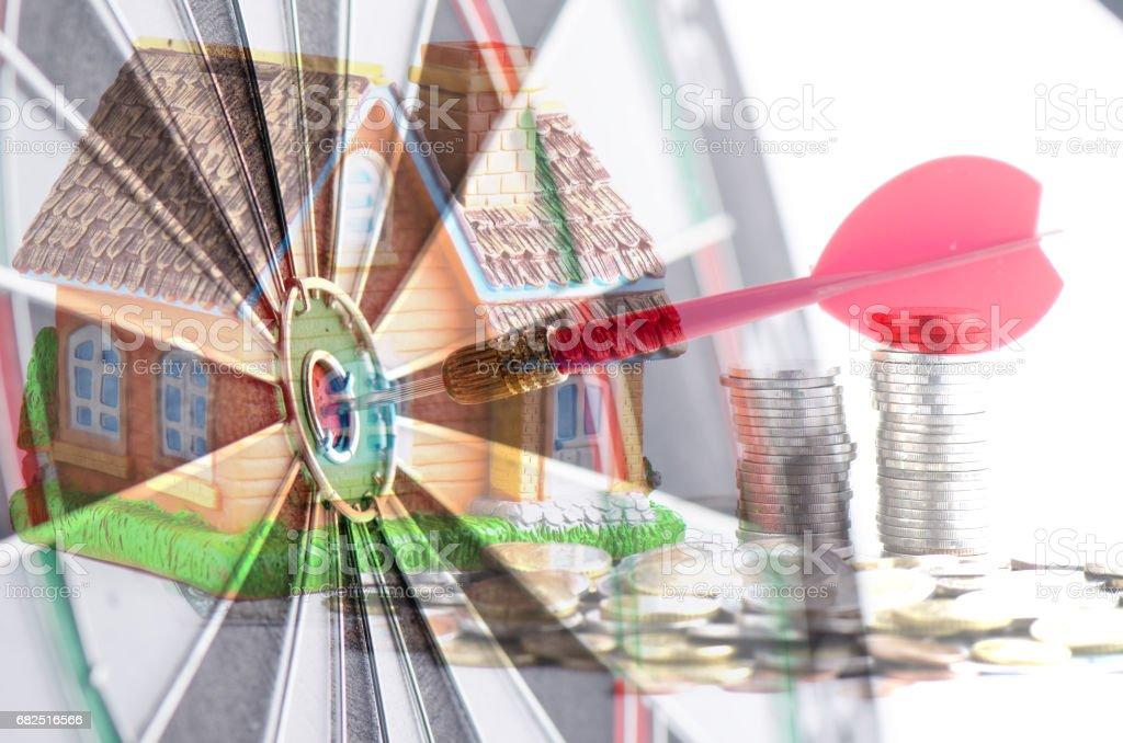 Keep money  for home Стоковые фото Стоковая фотография