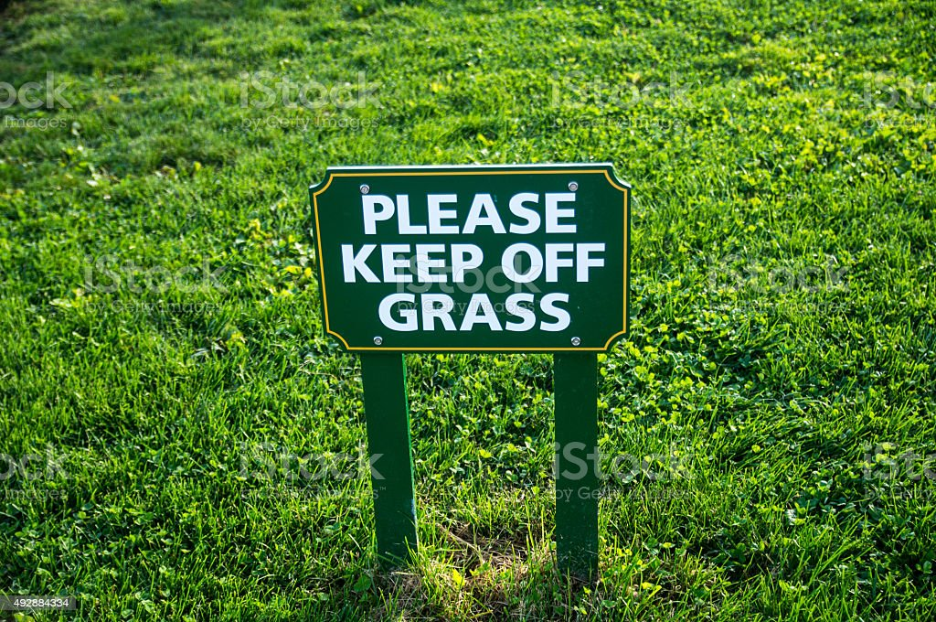 Keep off Grass Sign stock photo