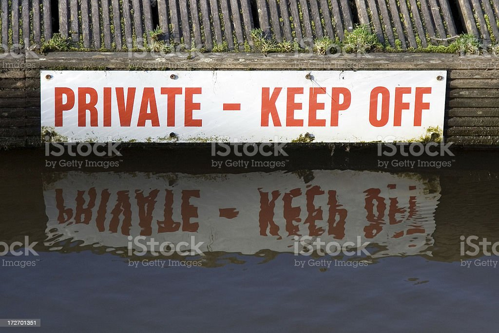 Keep off royalty-free stock photo