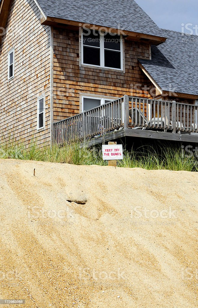 Keep off the dunes! stock photo