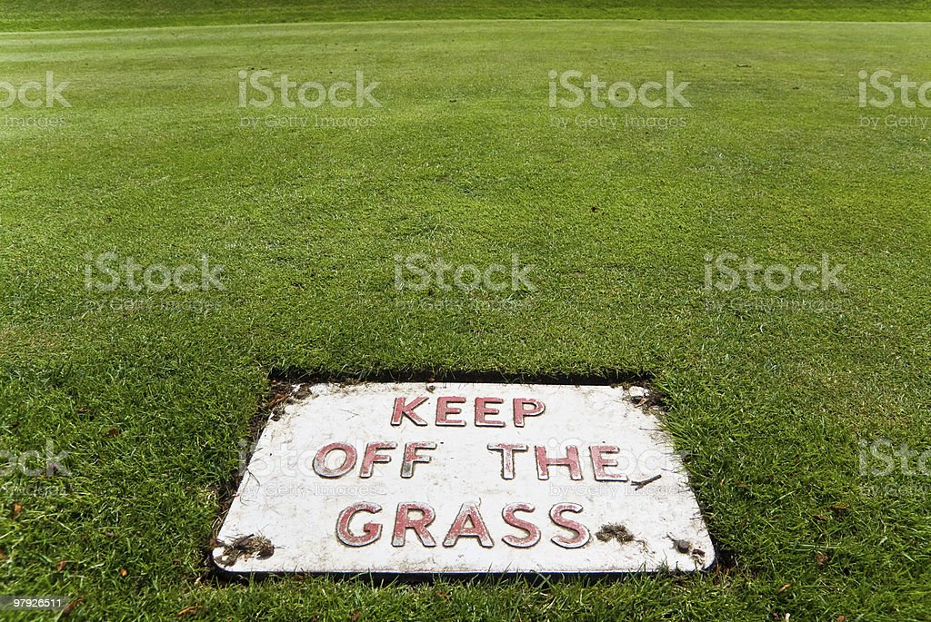 Keep off the grass royalty-free stock photo