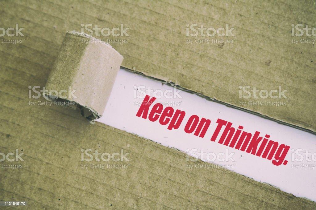 Düşünmeye devam et. stok fotoğrafı