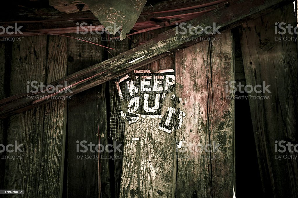 Keep Out stock photo