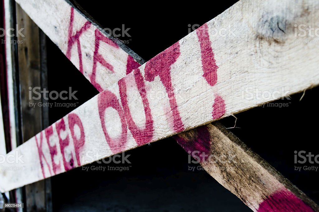 Keep Out! royalty-free stock photo
