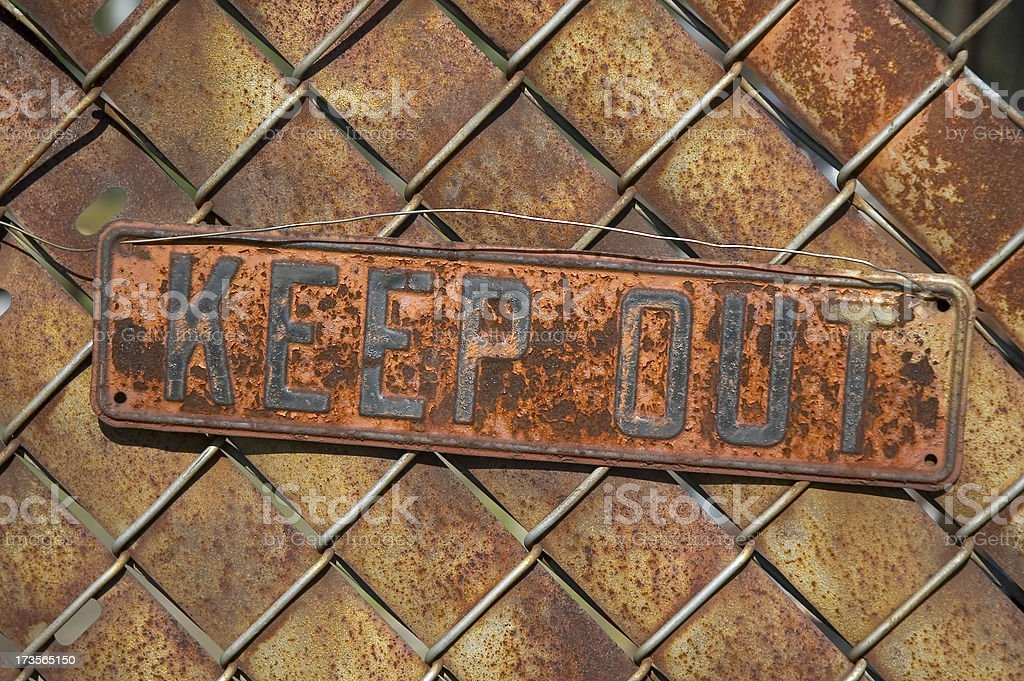 Keep Out Sign royalty-free stock photo