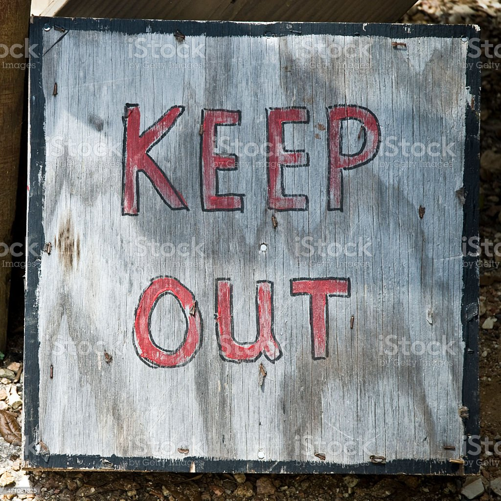 Keep Out Sign Wild West Town royalty-free stock photo
