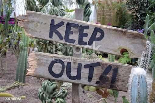 istock Keep Out Signpost 1009795988