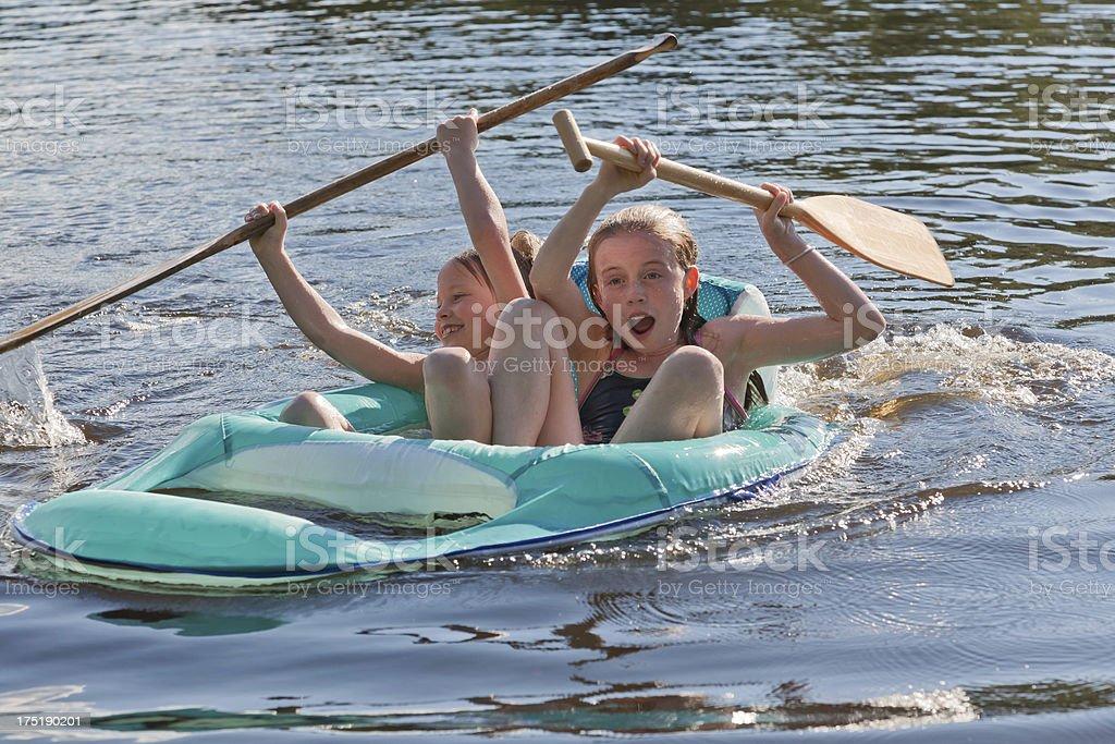 Keep paddling royalty-free stock photo