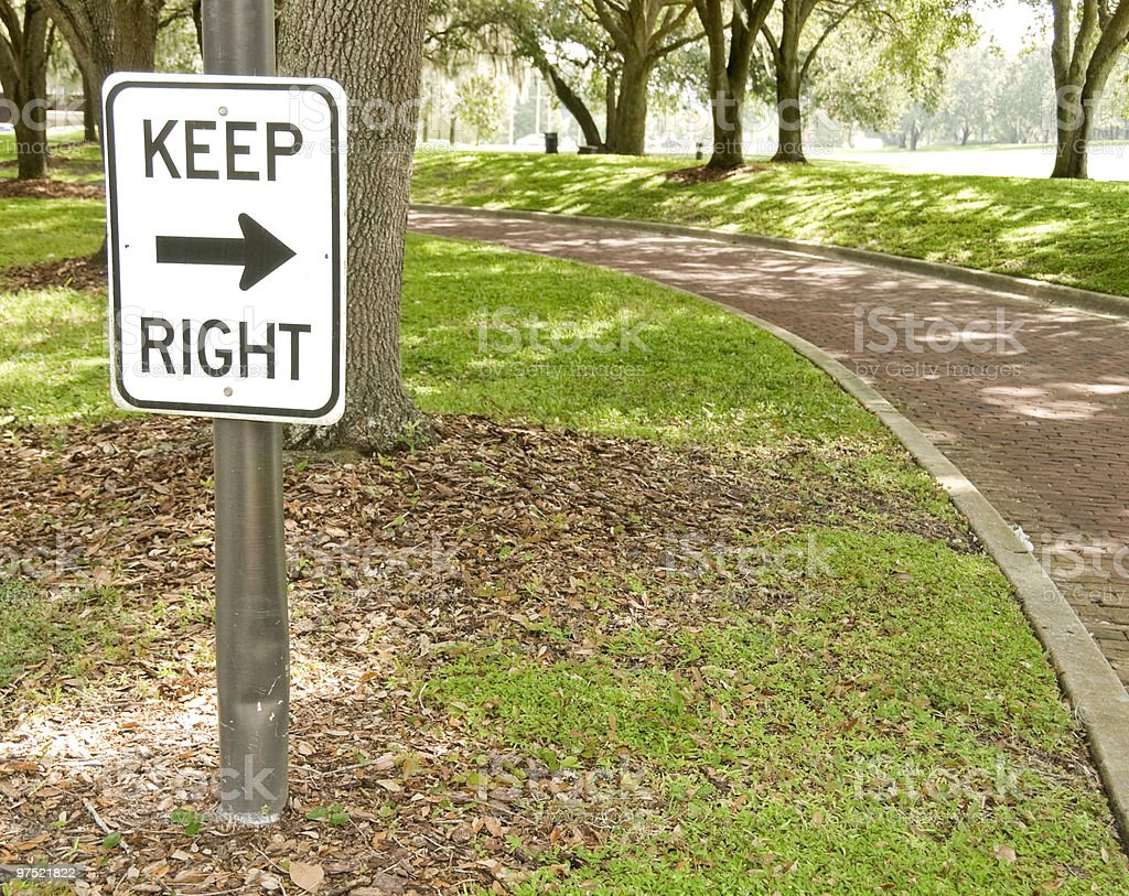 Keep Right Sign royalty-free stock photo