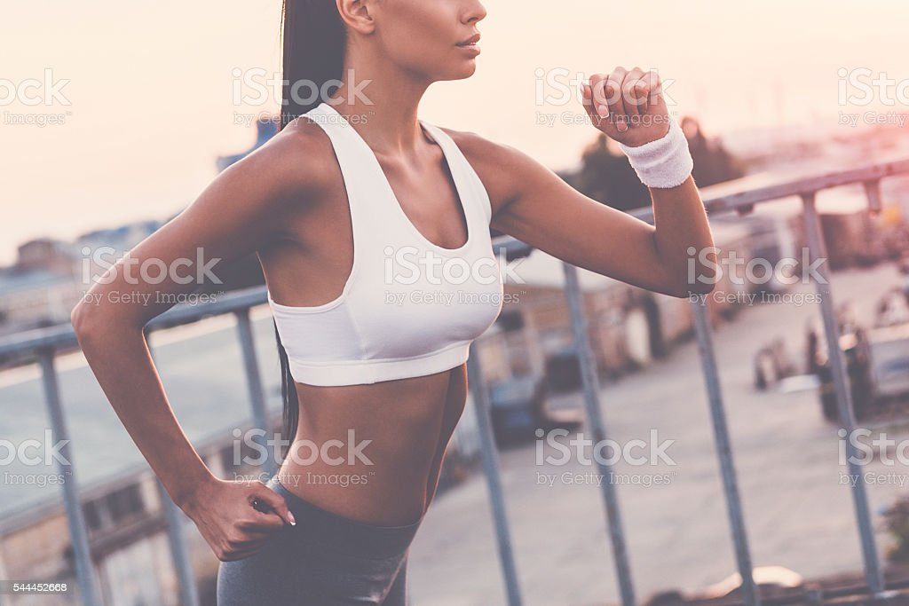 Keep running! stock photo