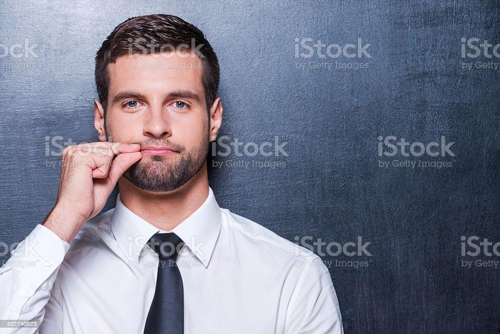 Keep silence! stock photo