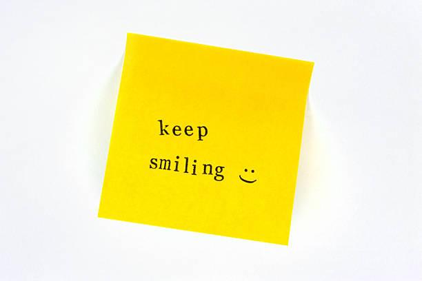 Sie Lächeln Post-it – Foto