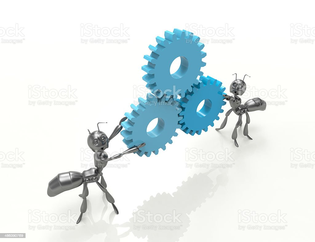 keep the gears-ants-concept royalty-free stock photo
