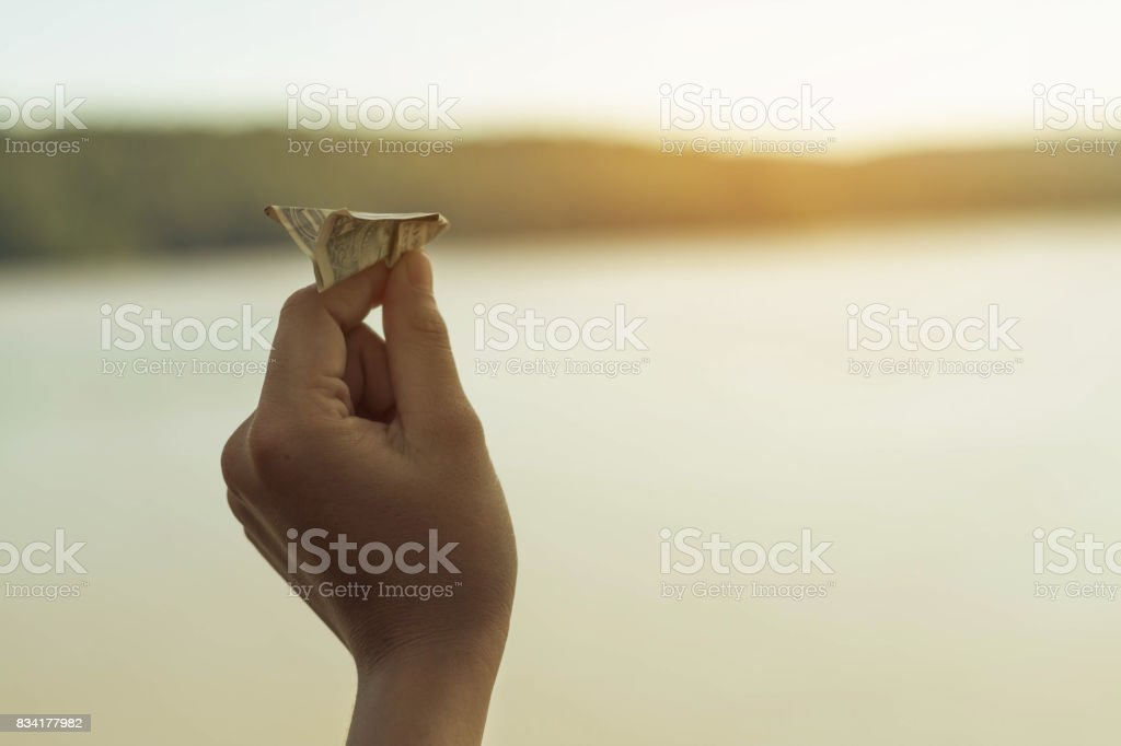 Keep the money for future use, Concept save money for the future. stock photo