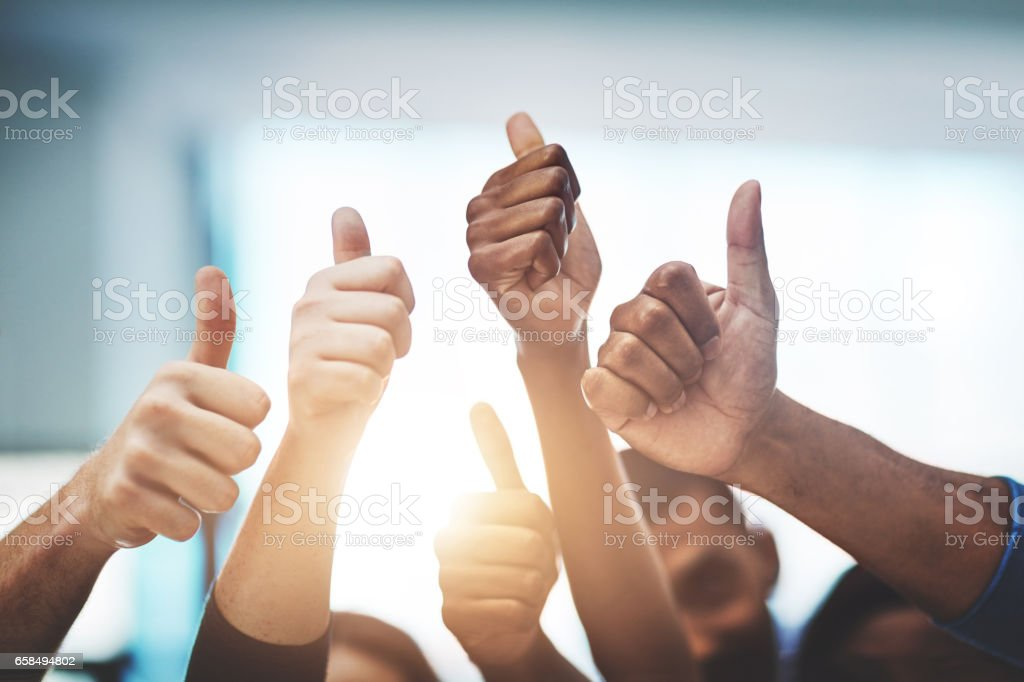 Keep up the amazing work! stock photo