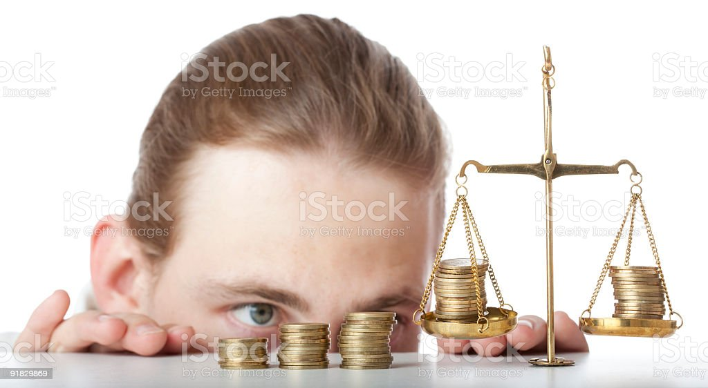 Keep Your Eye on Currency royalty-free stock photo