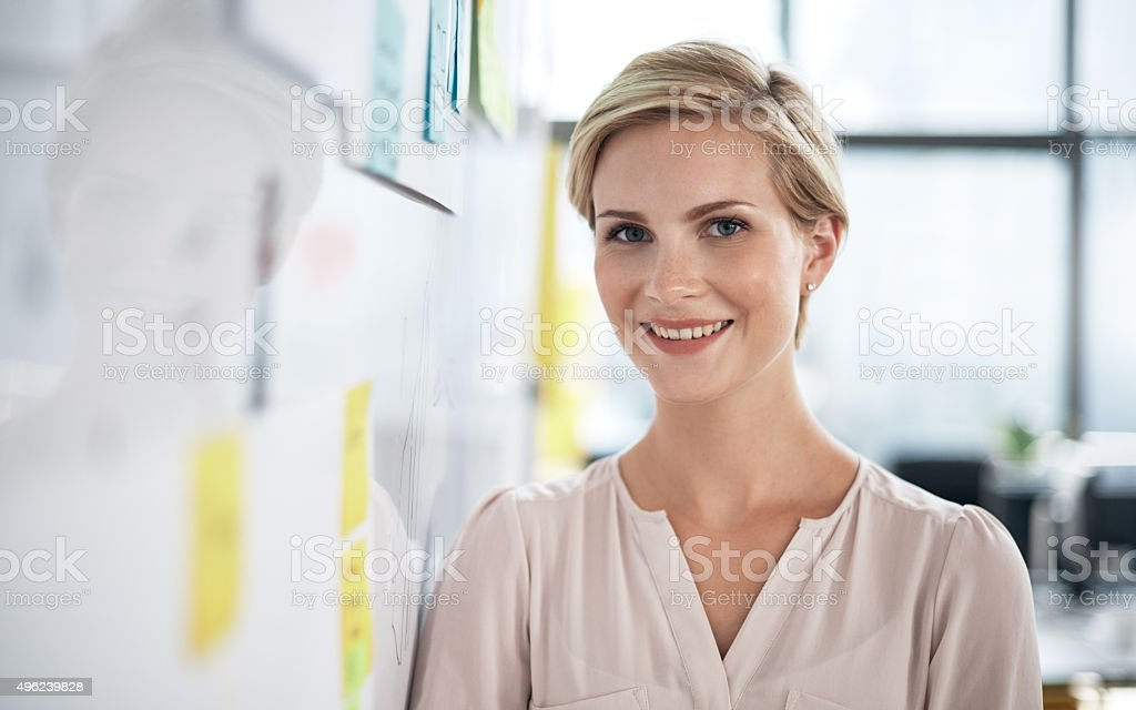Keep your eye on her career stock photo