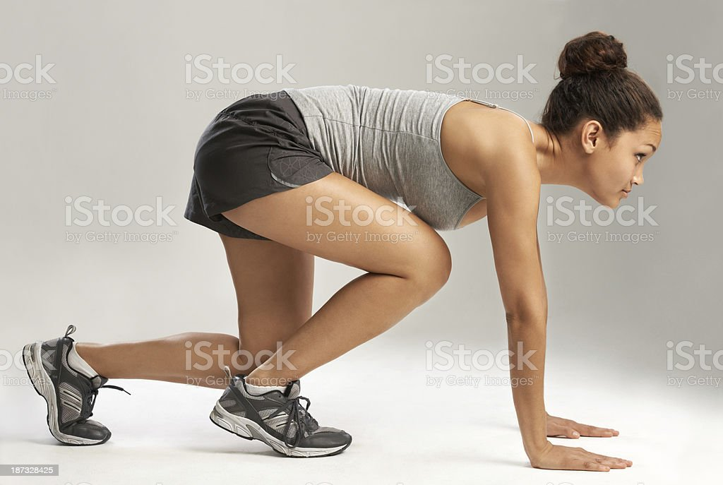 Keep your eye on the prize! - Fitness Goals stock photo