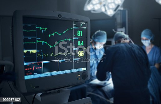 Shot of a hospital monitor in an operating theatre