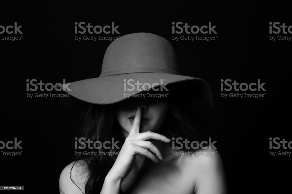 Keeping a secret stock photo