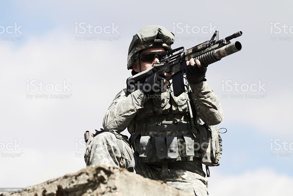 Keeping a watch-out royalty-free stock photo