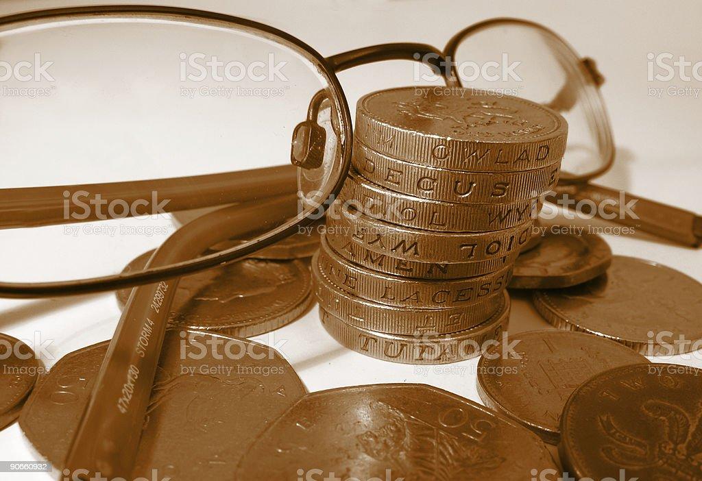 Keeping an eye on finance royalty-free stock photo