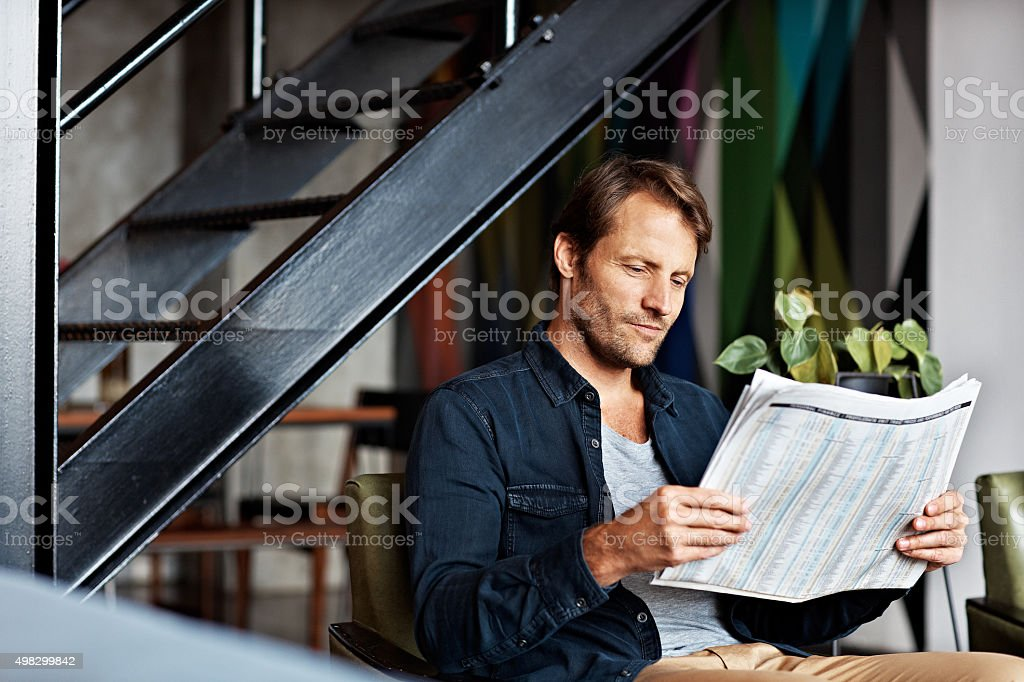 Keeping an eye on the markets stock photo
