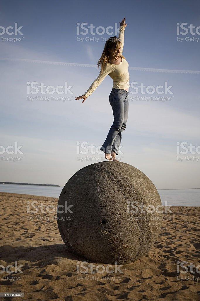 Keeping balance royalty-free stock photo