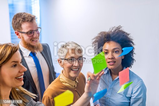 istock Keeping business evolving with a creative brainstorming session 1088181928