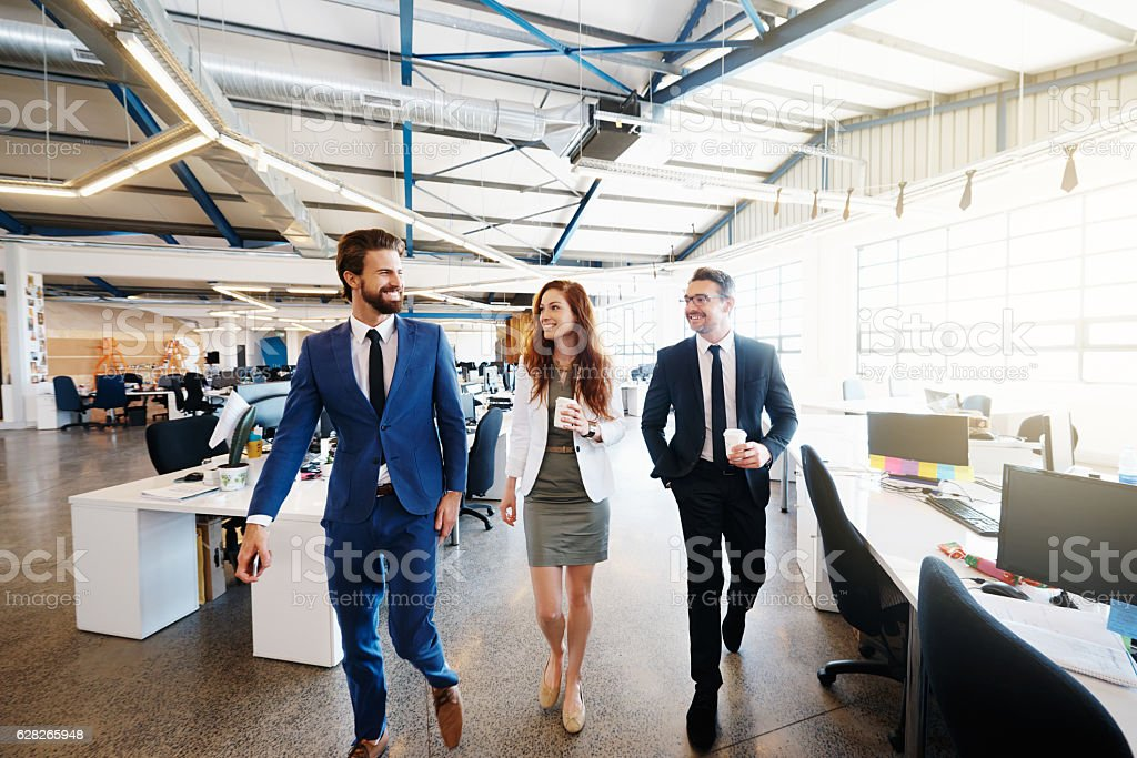 Keeping business moving stock photo