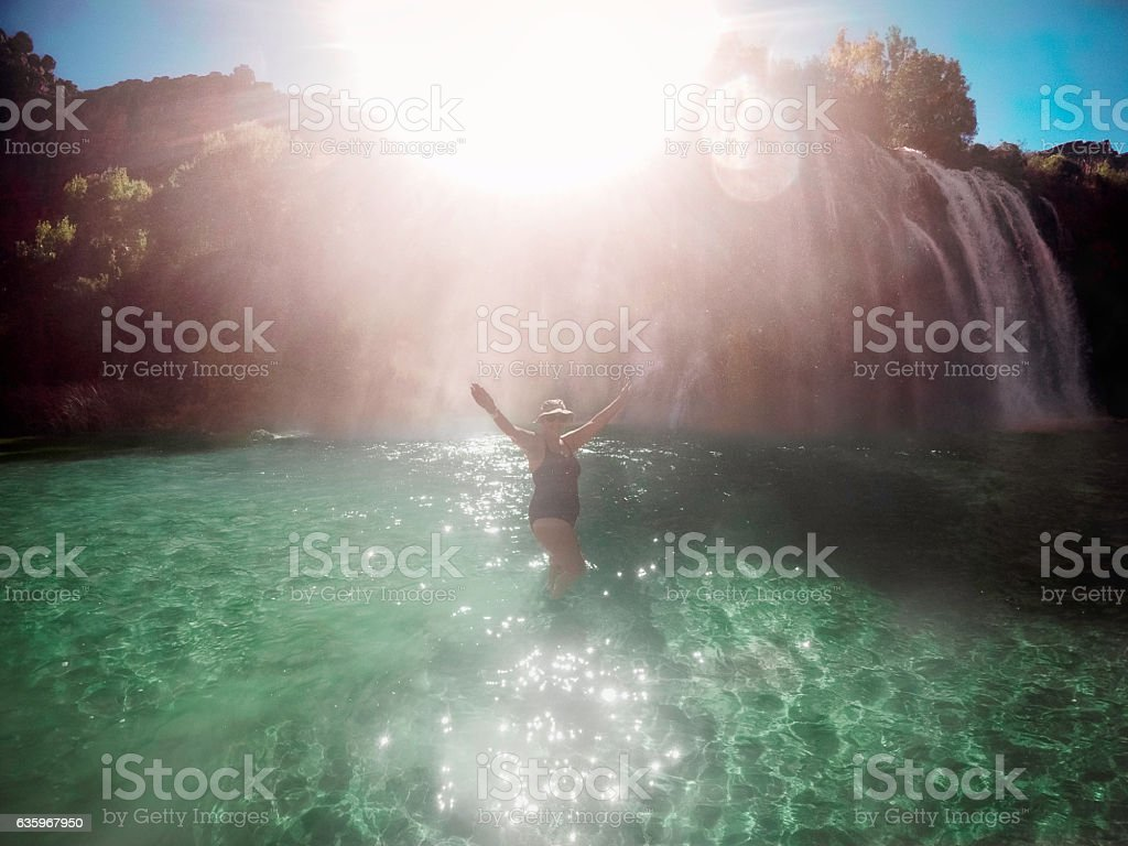 Keeping Cool in the Grand Canyon stock photo
