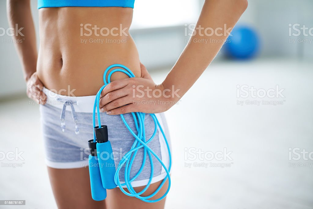 Keeping fit stock photo