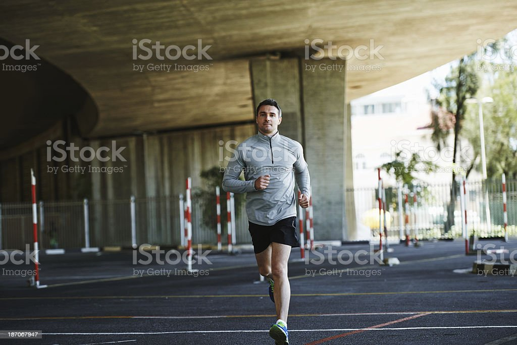 Keeping fit thanks to a daily run royalty-free stock photo