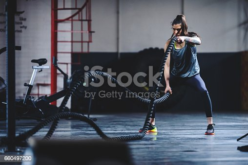 istock Keeping her body in perfect shape 660497200