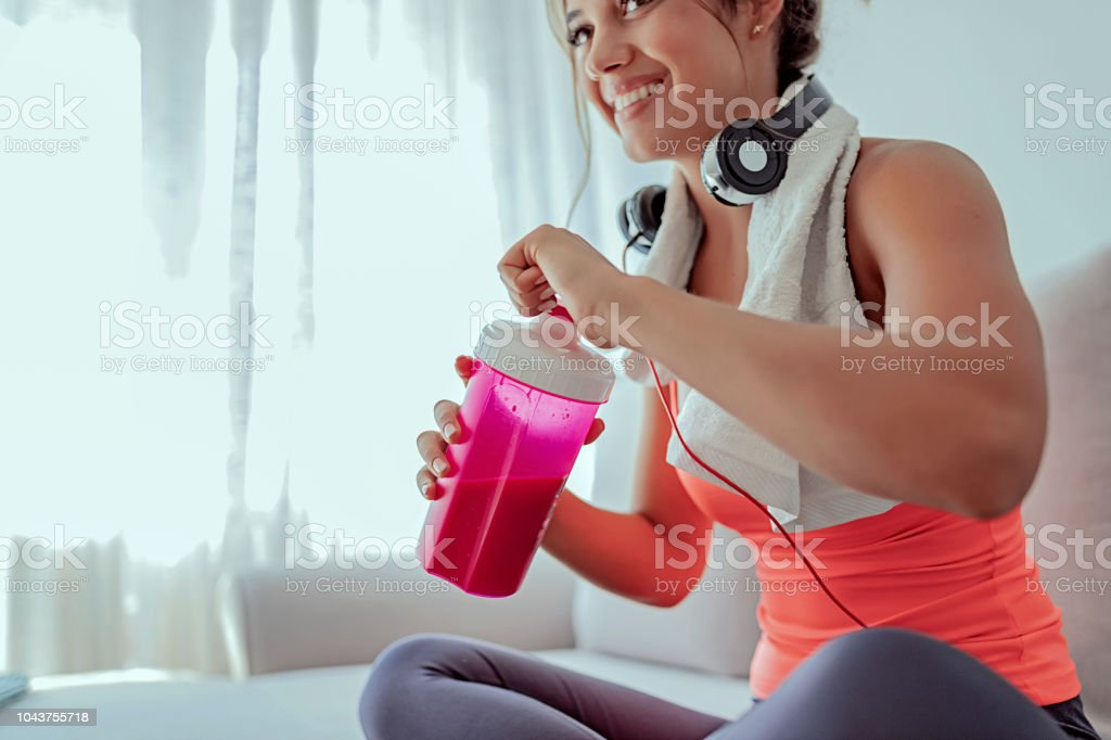 Keeping her energy levels up stock photo