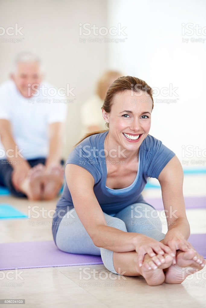 Keeping her students active and happy stock photo