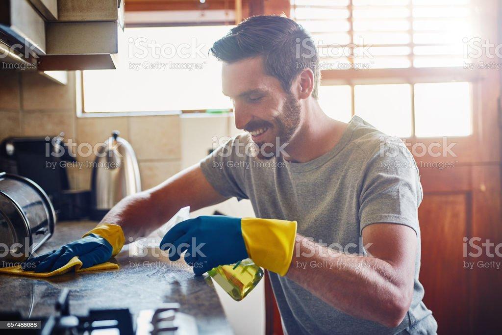 Mantener su casa limpia y ordenada fotograf a de stock y - Casa limpia y ordenada ...