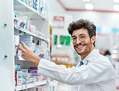 Portrait of a pharmacist working in a pharmacy