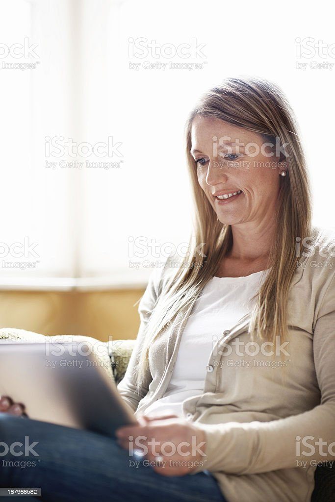 Keeping in touch with friends abroad royalty-free stock photo