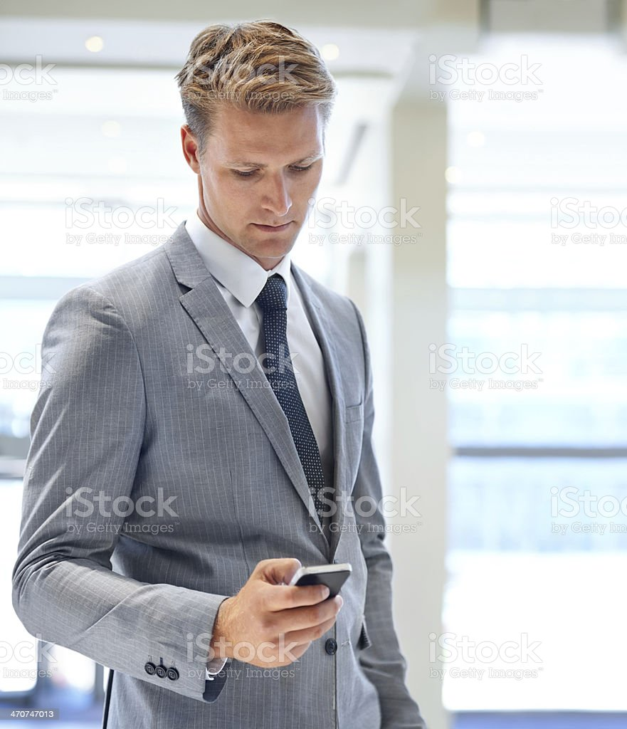 Keeping in touch with my clients stock photo