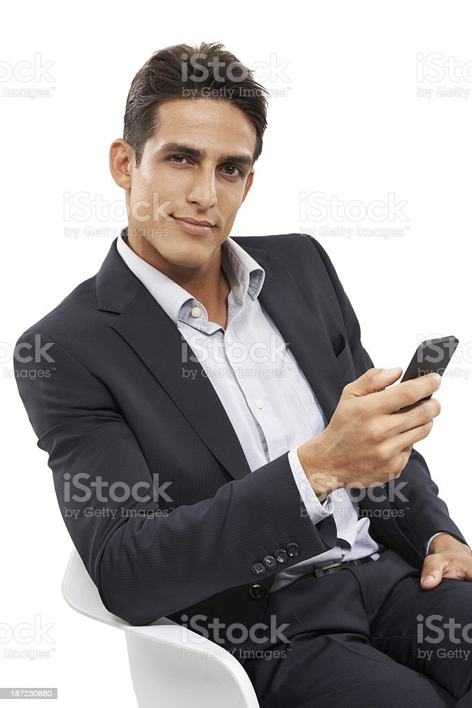 Keeping in touch with the business world royalty-free stock photo