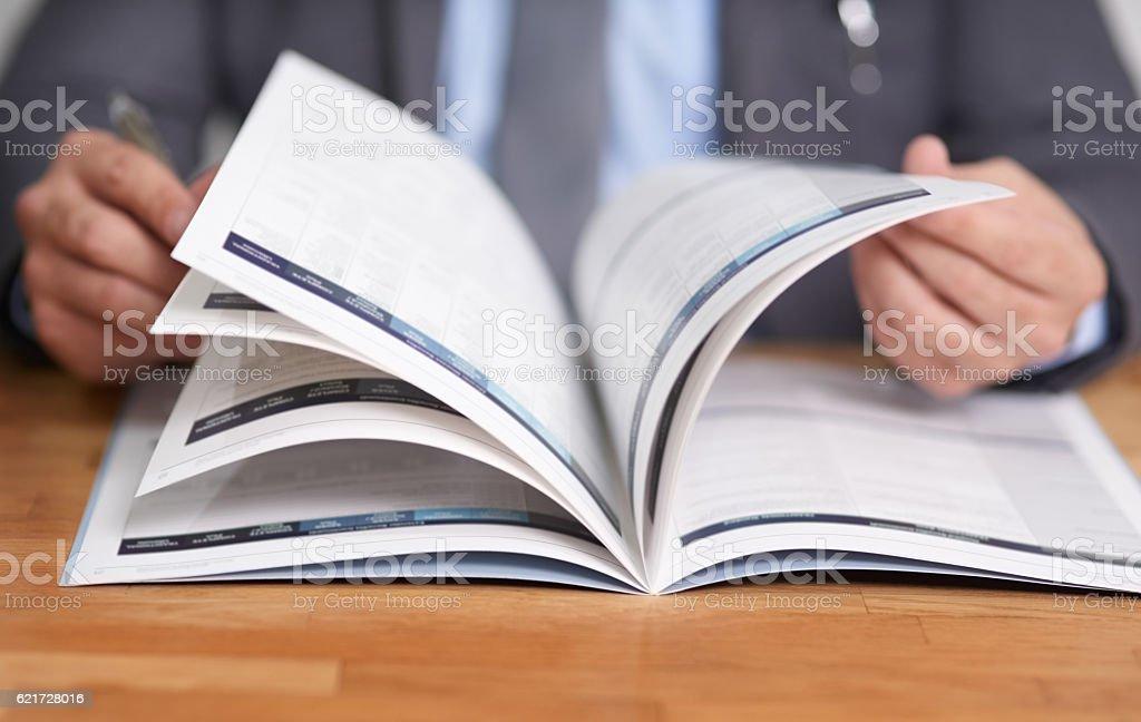 Keeping informed is the key to success - Lizenzfrei Akademisches Lernen Stock-Foto