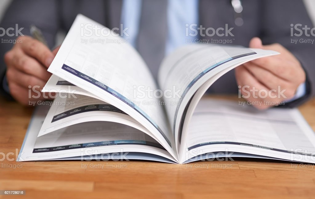 Keeping informed is the key to success - foto de stock