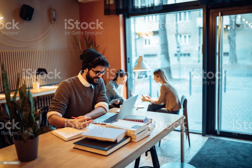 Keeping informed is the key to success stock photo