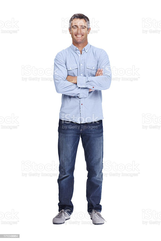 Keeping it casual stock photo