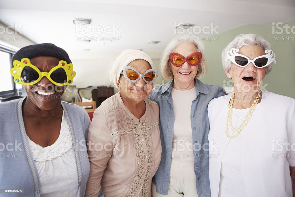 Keeping it cool in their older years stock photo